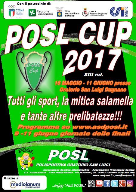 POSL CUP 2017: pochi giorni al via!