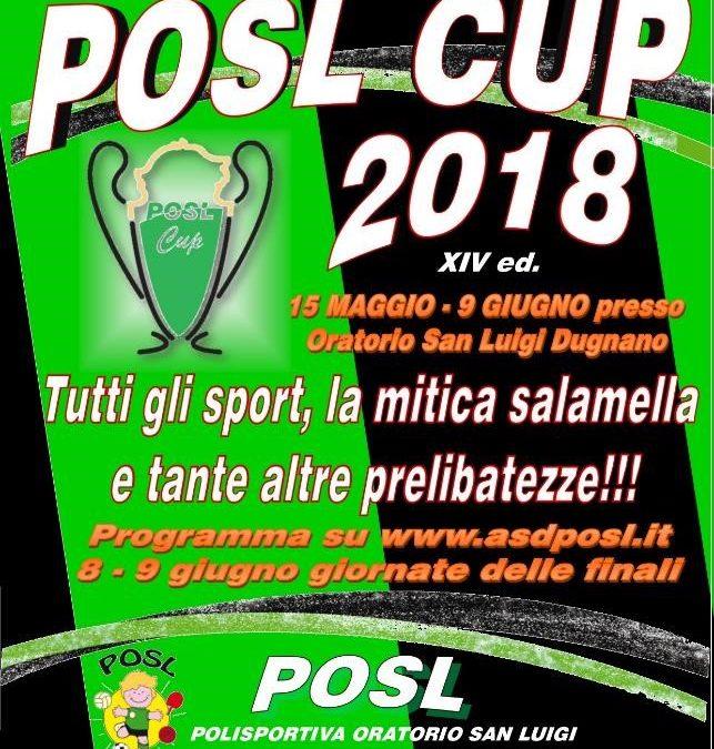 POSL CUP 2018: il 15 maggio si inizia!