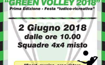 GREEN VOLLEY 2018: prima edizione – Festa ludico-ricreativa