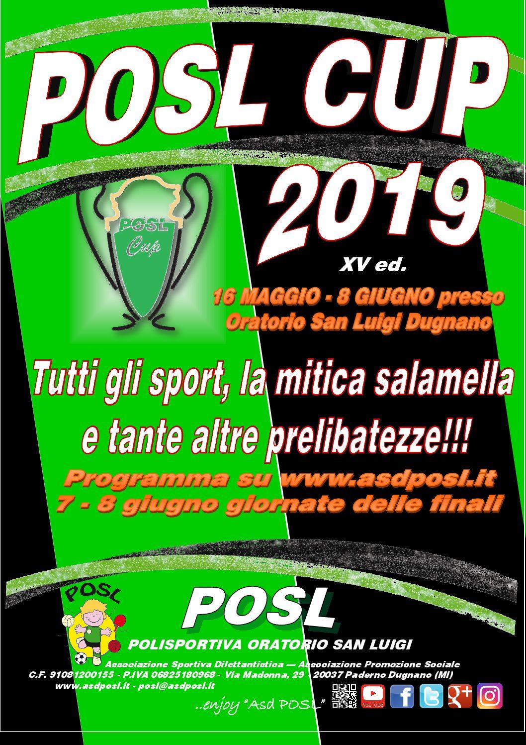 POSL CUP 2019: completata la programmazione