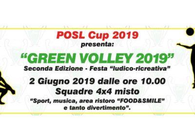 GREEN VOLLEY 2019: SECONDA edizione – 2 GIUGNO 2019