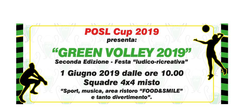 GREEN VOLLEY 2019: SECONDA edizione – 1 GIUGNO 2019