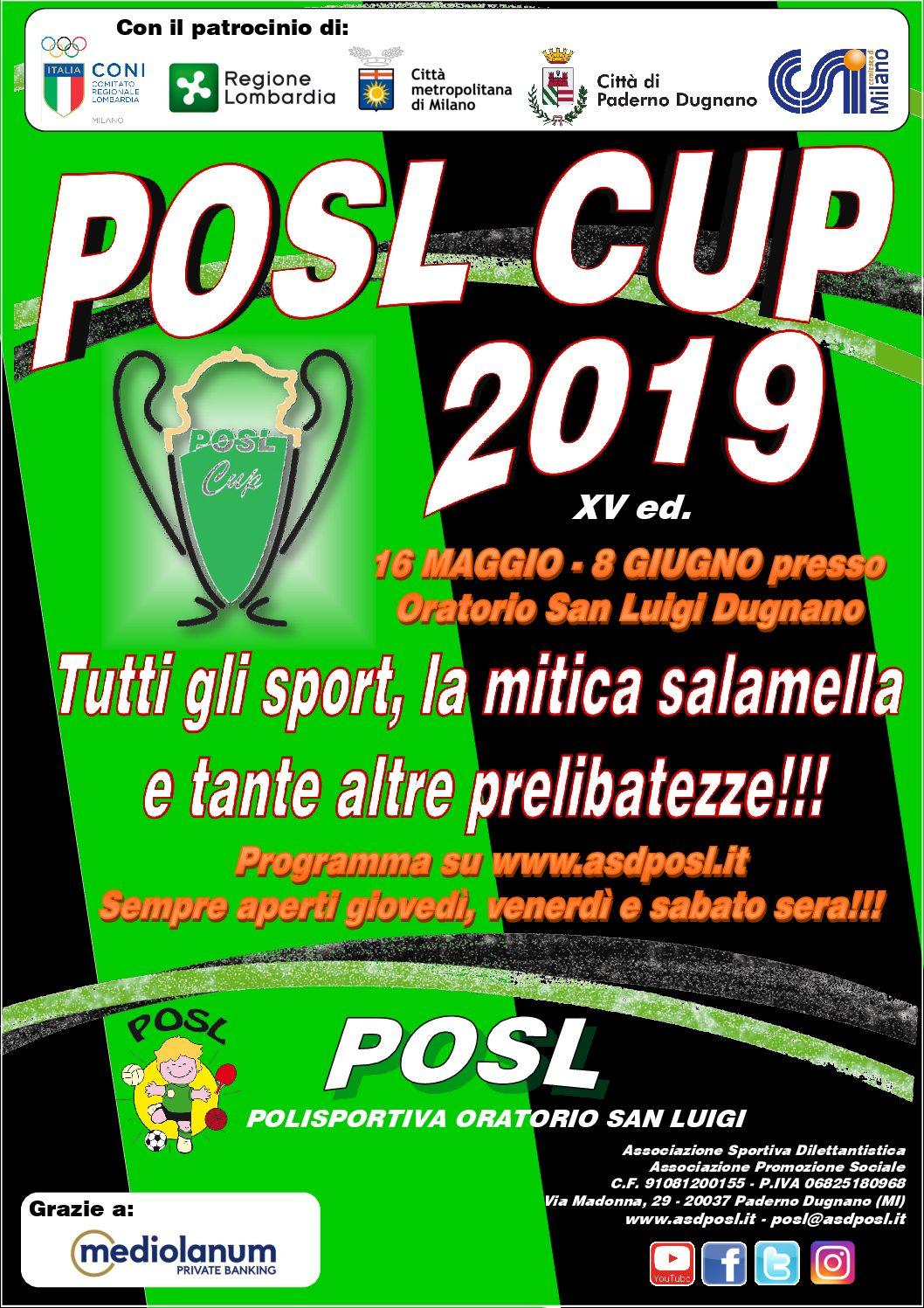 POSL CUP 2016: il via il 16 maggio!