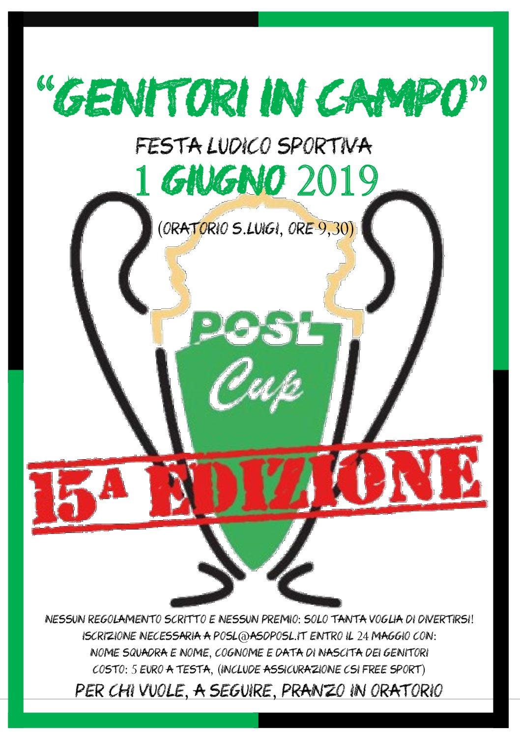 POSL CUP 2019: torna  GENITORI IN CAMPO!!!