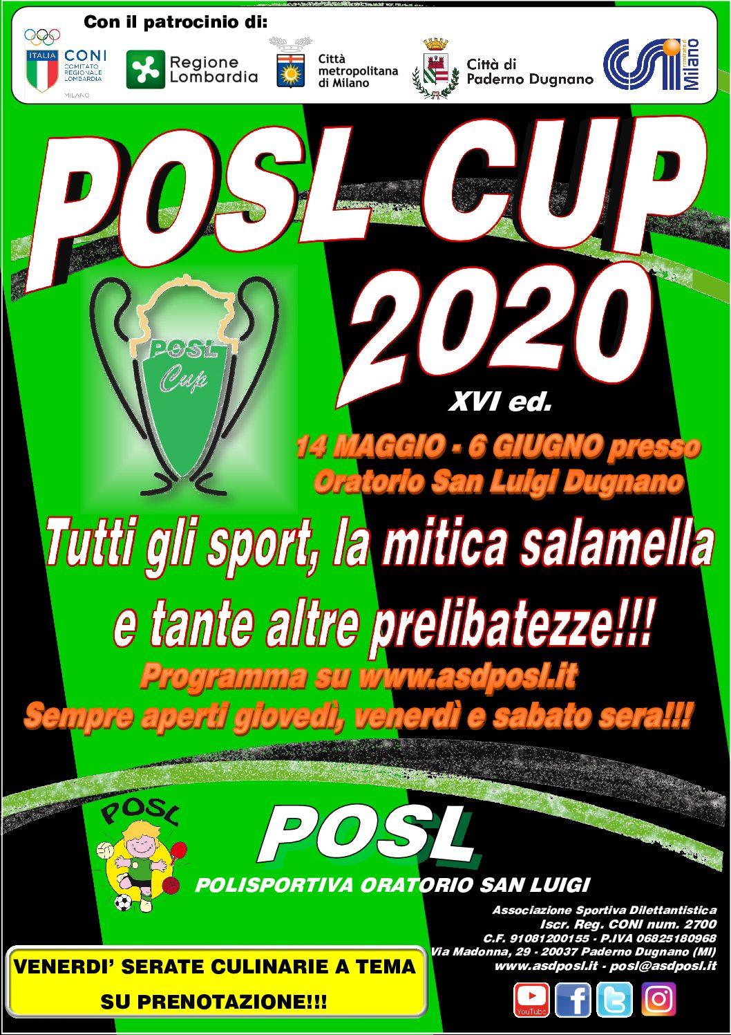 POSL CUP 2020: pronto il programma!
