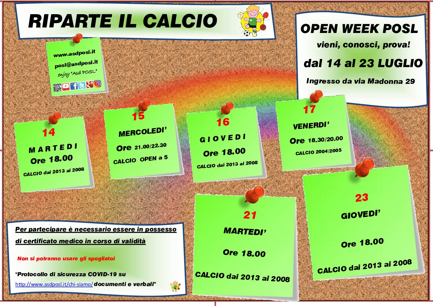 Calcio Open Week!!!