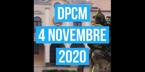 Impatti DPCM del 4 novembre 2020