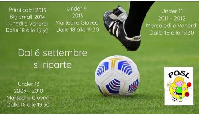 Open day calcio POSL settembre '21